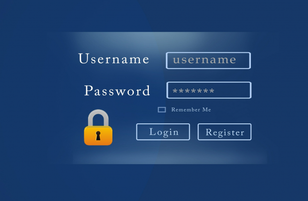 login with username and password